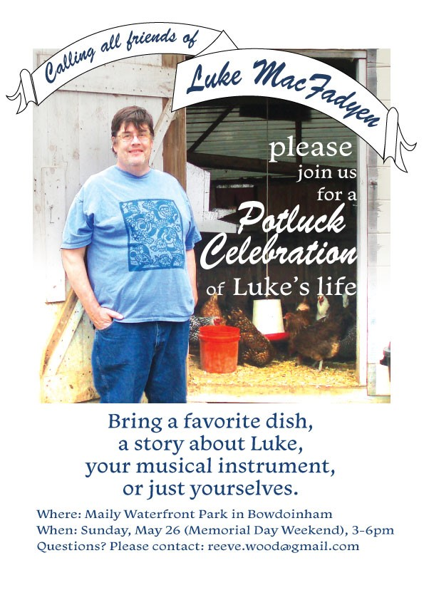 Invitation to Celebration of Luke MacFayden's Life