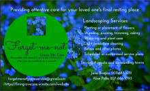 Forget-me-not Grave Site Care