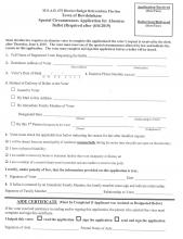 Special Circumstance for Application for Absentee Ballot